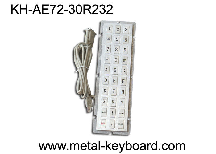 R232 Port Industrial Metal Keyboard , ip65 keyboard For Industrial Control Platform