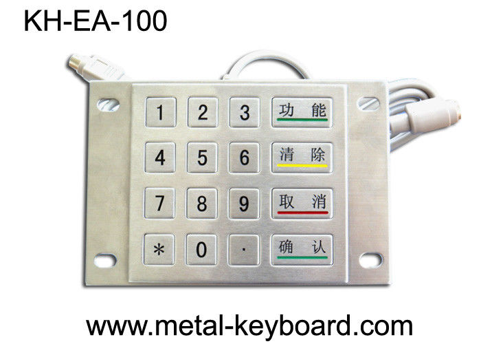 Vandal Proof Stainless Steel Kiosk Numeric Keypad for PC with 16 Keys