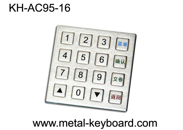 Industrial Metal Numeric Keypad 4 X 4 Matrix , IP 65 Water - proof Keypad