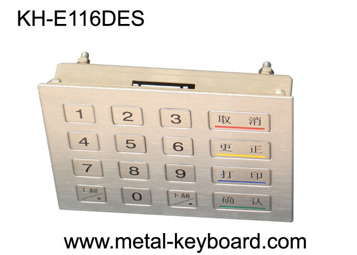 16 Keys Encryption Metal keypad with Vandal resistant for Bank Kiosk