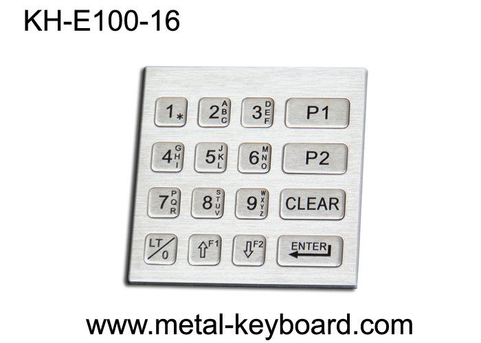 IP65 Rated Vending Machine Metal Keypad , 16 key keypad 4 x 4