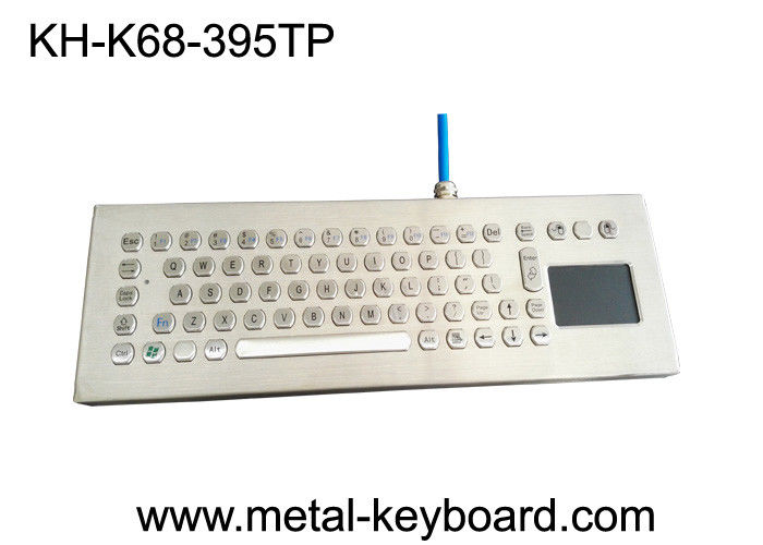 Desktop Stainless Steel Industrial Keyboard with Touchpad , Metal Computer Keyboard