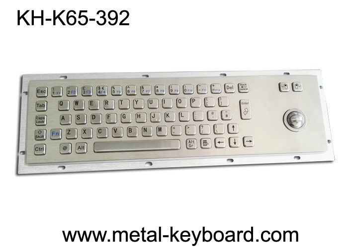 IP65 Industrial PC Keyboard , Stock Trading Keyboard 25mm Laser Trackball