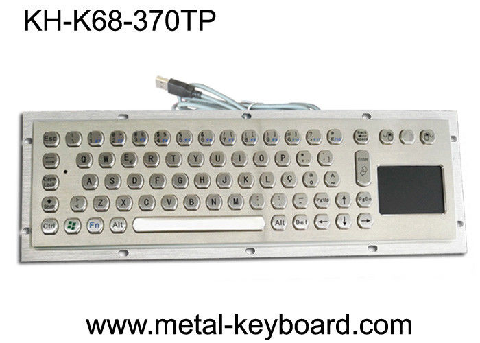 70 Keys Industrial Computer Keyboard Internet Friendly Key Layout With Touchpad