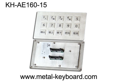 चीन Panel Mount Industrial Metal Keyboard Stainless steel for Mine Machine फैक्टरी
