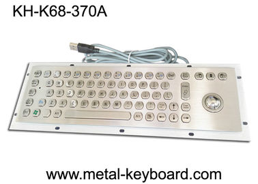 Mounted 67 Keys Industrial Computer Keyboard , Dust Proof Keyboard In Metal