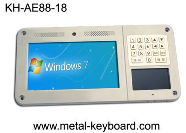 चीन Ruggedized metal keyboard with 18 keys use for Industrial Entry Machine फैक्टरी