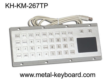 चीन Custom Mine Vandal proof Metal Panel Mount Keyboard with Touchpad Mouse फैक्टरी