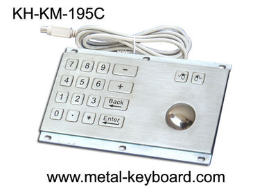 चीन Rugged Stainless Steel Panel Mount Keyboard with Trackball IP65 Rate Dustproof फैक्टरी