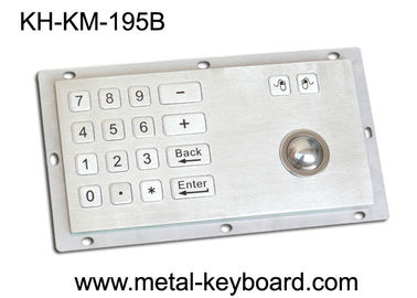 चीन Panel Mount Industrial Industrial Keyboard with Trackball , 16 Keys Digital Keyboard फैक्टरी