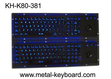 चीन Illuminant waterproof SS Industrial Metal Keyboard with Trackball  pointing device फैक्टरी